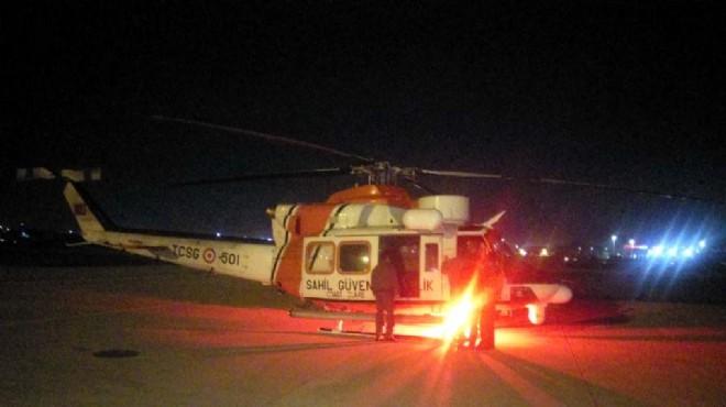 İzmir'de dehşet anları: Helikopter havalandı!