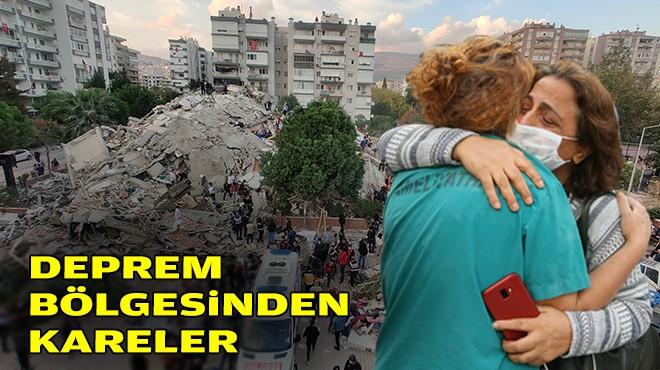 İzmir'de deprem acısı: Enkaz bölgesinden kareler