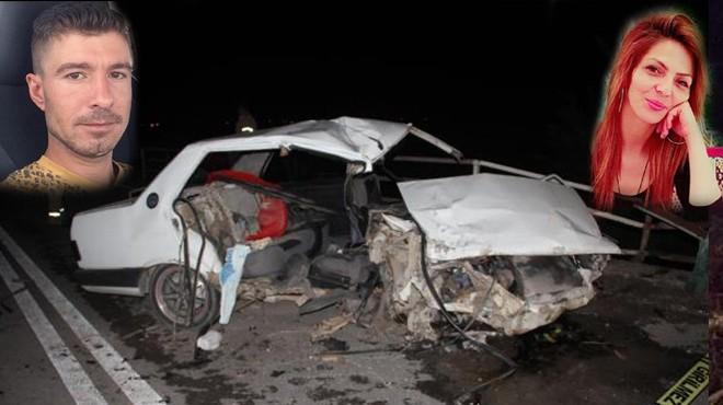İzmir'de eğlence çıkışı feci kaza: 2 kişi can verdi