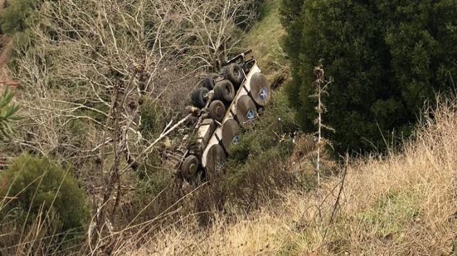 İzmir'de feci kaza: 50 metrelik uçuruma yuvarlandı!