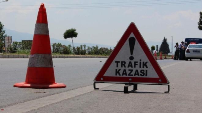 İzmir'de feci kaza! Şoför kalp spazmı geçirince...