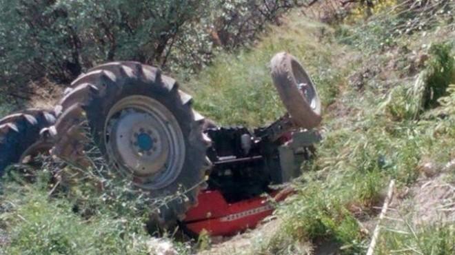 İzmir'de feci kaza: Traktörün altında can verdi