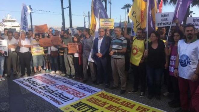 İzmir'de Gülmen ve Özakça'nın tutuklanması protesto edildi