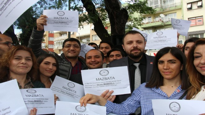 İzmir'de İmamoğlu'na mazbatalı destek