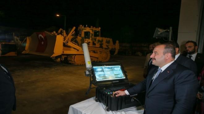 İnsansız iş makineleri İzmir'den yola çıkıyor