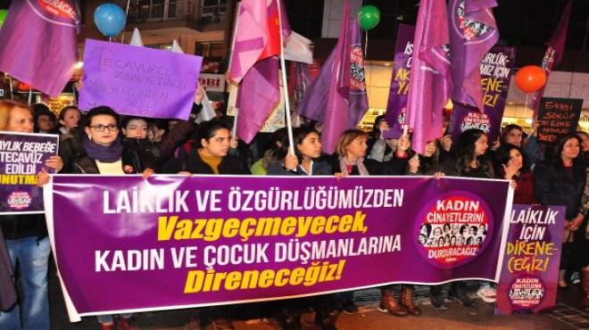 İzmir'de kadınlardan şiddete karşı balonlu eylem!