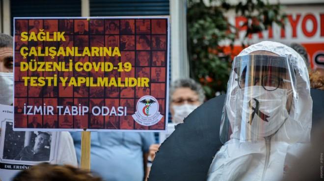 İzmir'de korona kurbanı sağlık çalışanları için saygı duruşu