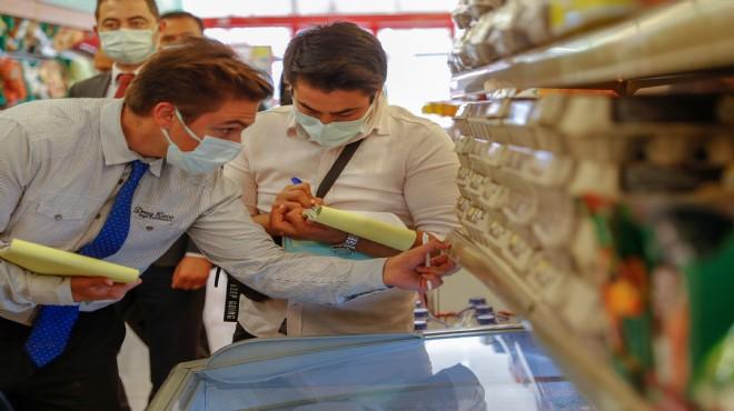 İzmir'de marketlerde 'fahiş fiyat' denetimi