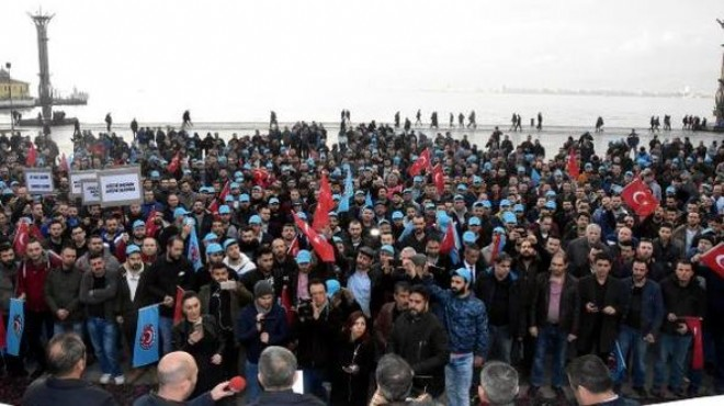 İzmir'de metal işçileri sokakta!