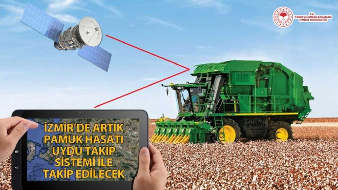 İzmir'de pamuk hasadı uydudan kontrol edilecek