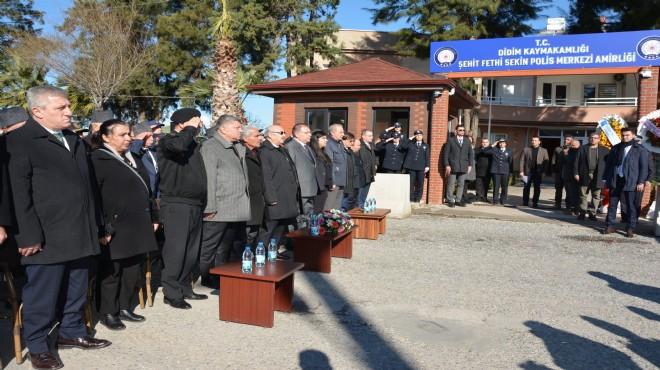 İzmir'de şehit olan Fethi Sekin'in ismi Aydın'daki karakola verildi