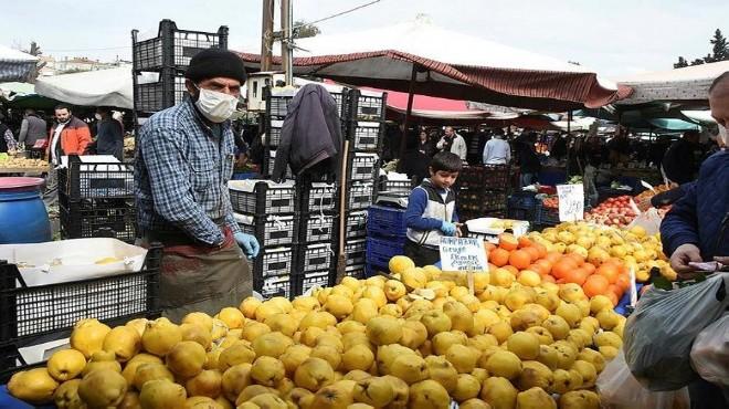 İzmir'de semt pazarlarında son durum: Önlem de var, kalabalık da!