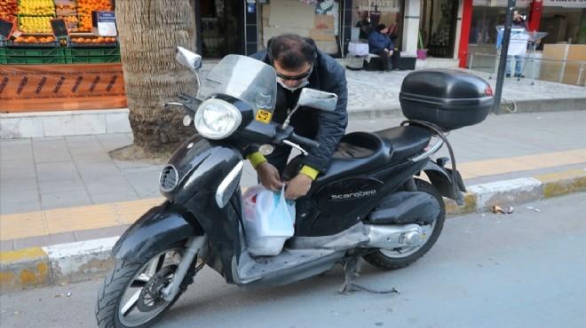 İzmir'in kanatsız meleği motosikletiyle yollarda