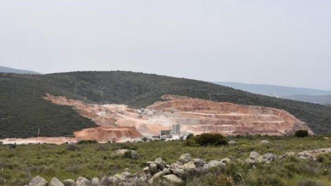 İzmir'in turizm cennetinde korsan taş ocağı!