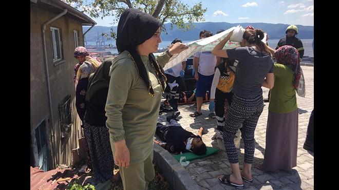 Jandarma kaza yaptı: Vatandaş yardıma koştu!