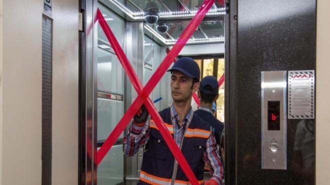 Karabağlar'da asansörler mercek altında