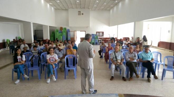 Karaburun'da sarsıntılar devam ederken deprem eğitimi