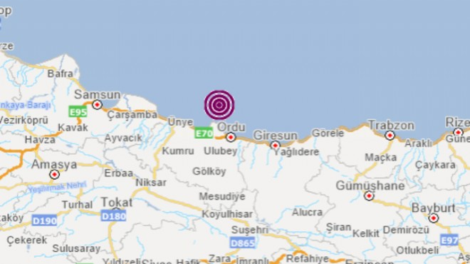 Karadeniz'de korkutan deprem!