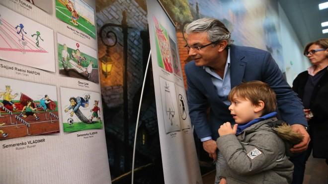 Karşıyaka'da ödüllü karikatürler Çocuk Müzesi'nde