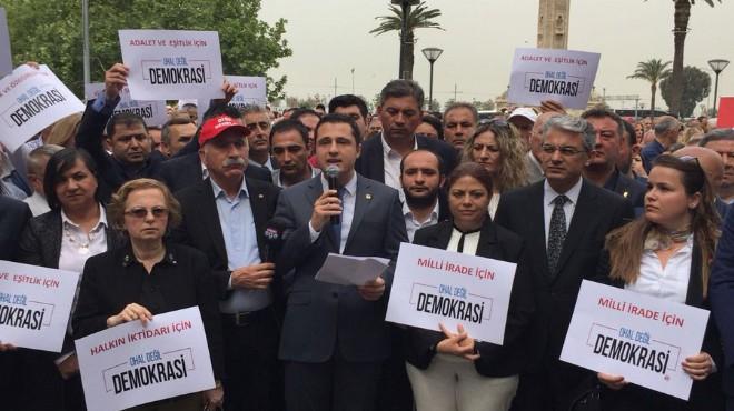 Konak Meydanı'nda eylem günü: CHP'den OHAL'e tepki!