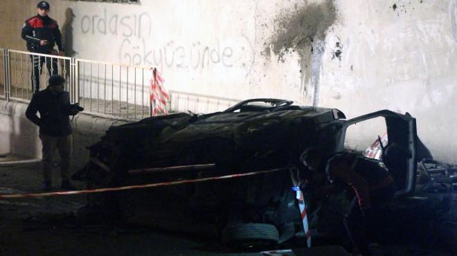 Korkunç kaza! Duvardaki yazı kahretti