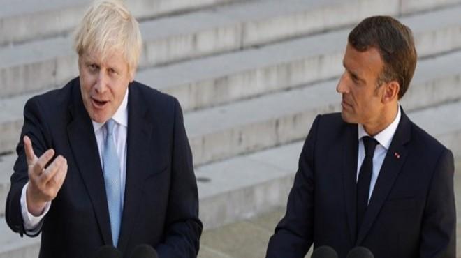 Macron ve Johnson'dan Brexit açıklaması