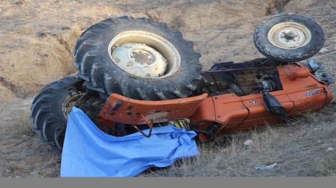 Manisa'da feci kaza: Traktörün altında can verdi!