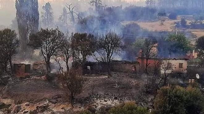 Manisa'da korkunç yangın: Alevler 10 evi küle çevirdi!