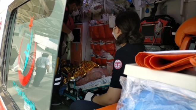 Manisa'da sıcak kireç kuyusuna düşen kişi ağır yaralandı