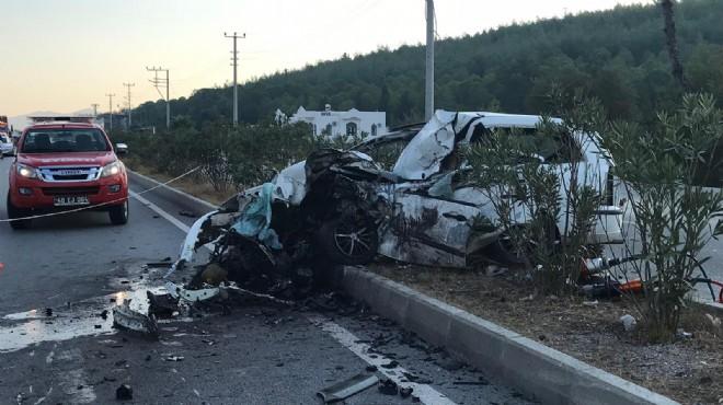 Milas'ta korkunç kaza: Paramparça oldu!