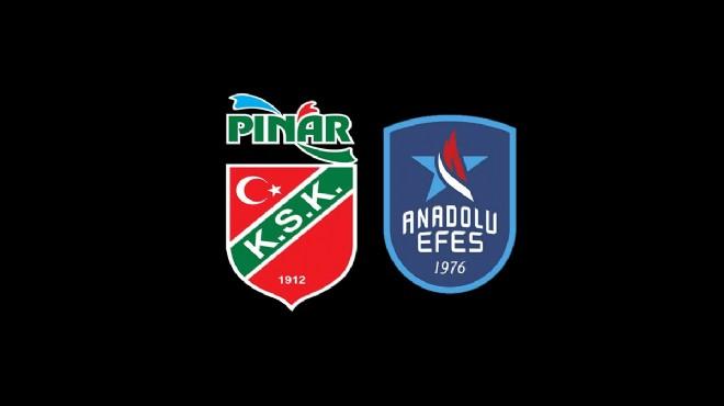Milli maç arası sonrası Pınar Karşıyaka'nın rakibi Anadolu Efes