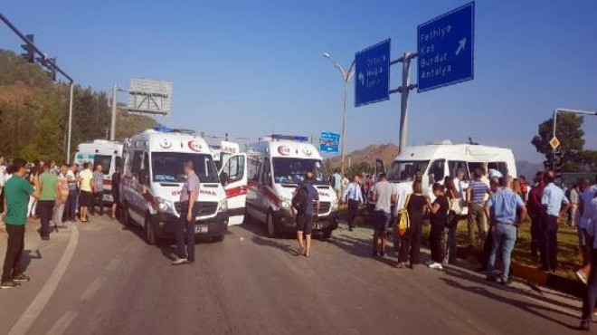 Dalaman'da can pazarı: 1 ölü, 21 yaralı!