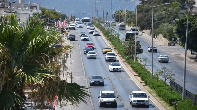 Muğla'da dönüş yolu trafiği