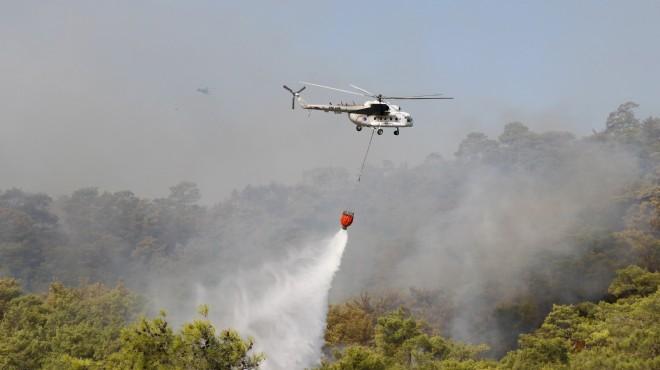 Muğla'da orman yangını! 4 ilden destek geldi