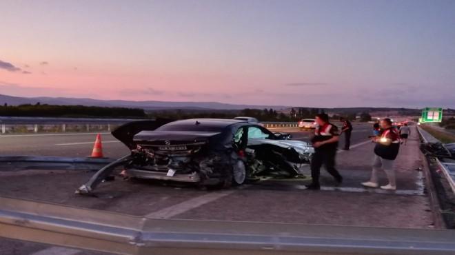 Otomobil bariyerlere daldı: 2 ölü. 2 yaralı!