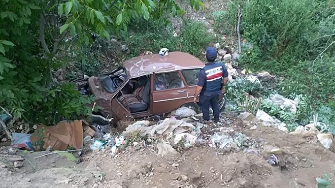Şarampole devrilen otomobilde 1 ölü 1 yaralı!