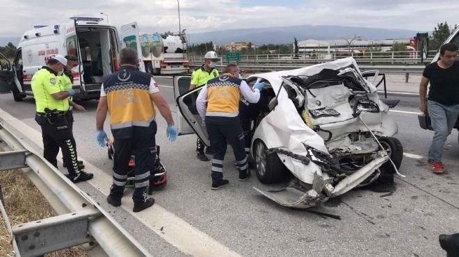 Seyahat izni almışlardı: Yaşlı çifti kaza ayırdı