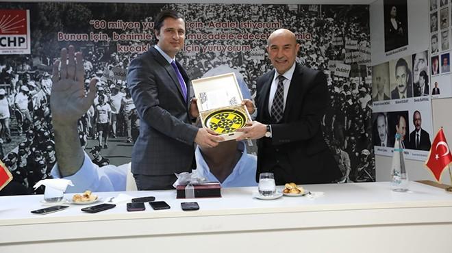 Soyer ve belediye başkanlarından Yücel'e kutlama ziyareti