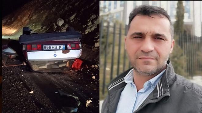 Takla atan otomobildeki evli çifti ölüm ayırdı