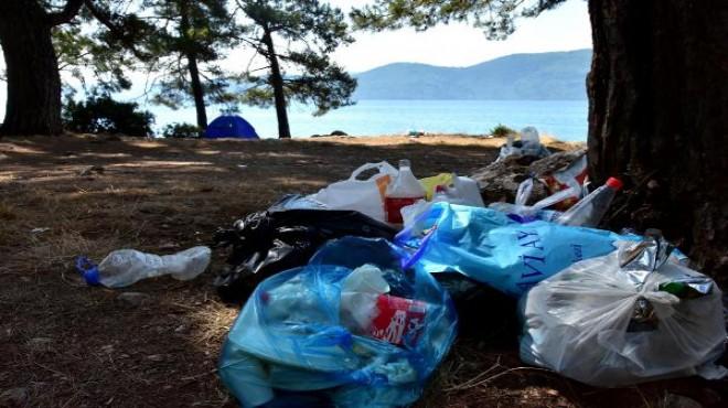 Tatilciler gitti, geriye çöpleri kaldı!