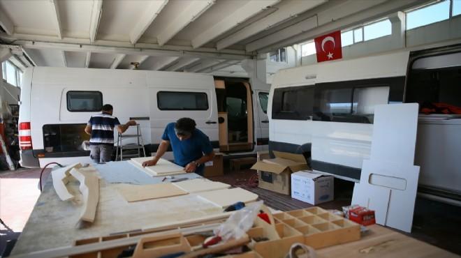 Tatilcilerin yeni gözdesi karavanda üreticiler talebe yetişemiyor!