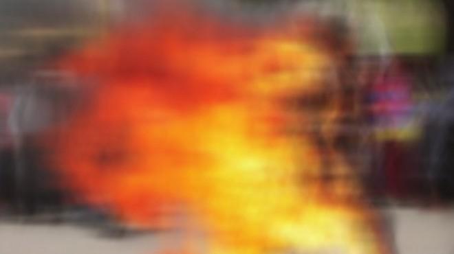 TBMM önünde üzerine benzin döküp kendini yaktı!
