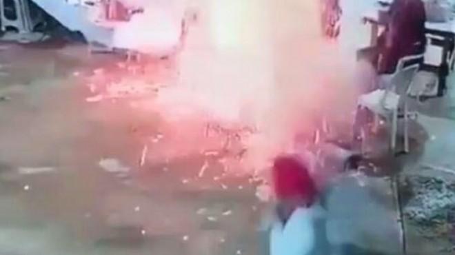 Torbalı'da panik anları: Cam konserve kutusu bomba gibi patladı!