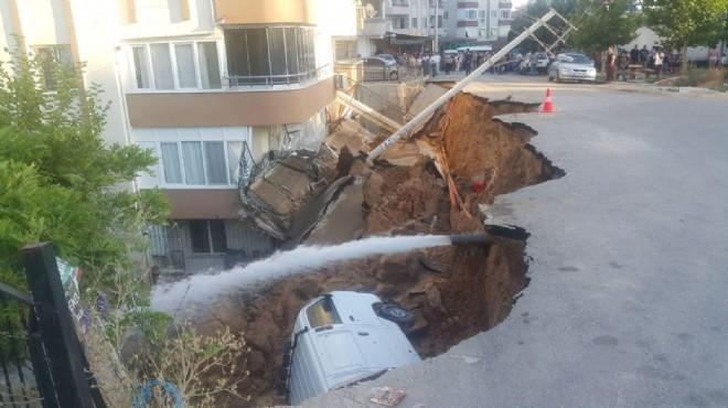Torbalı'daki göçüğe belediyeden müdahale