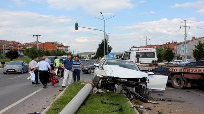 Trafik kazası: 1'i bebek 7 yaralı