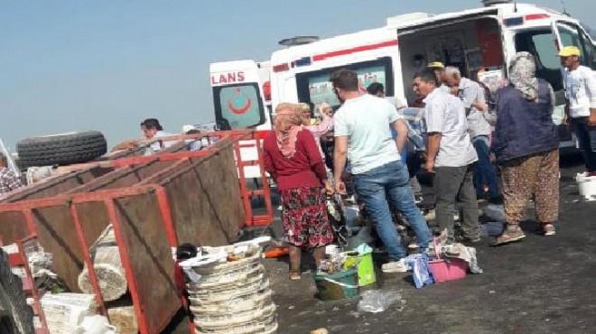 Turgutlu'da can pazarı! 11 tarım işçisi yaralı