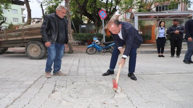 Turgutlu'nun yeni başkanı ilk kazmayı vurdu