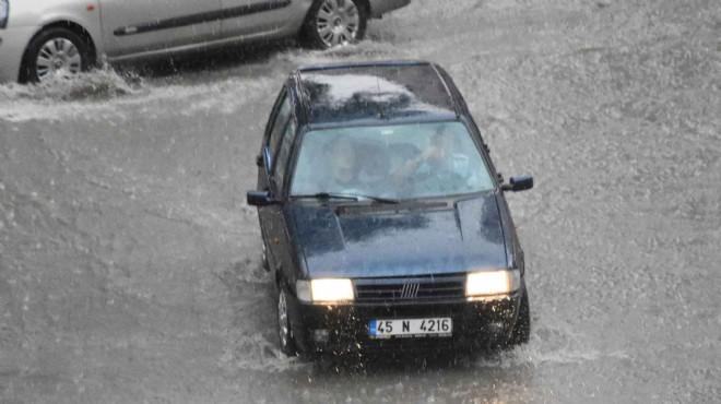 Turgutlu'yu yağmur vurdu!