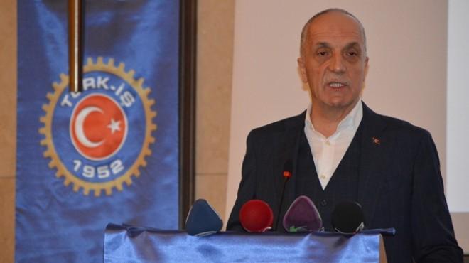 Türk-İş: O ücretin altına masaya oturmayız!