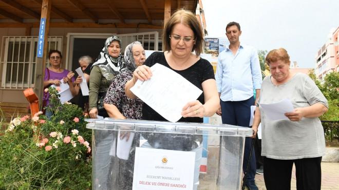 Türkiye'de bir ilk: Çiğli'de sandıklar kuruldu